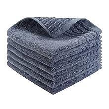 Allmarkhomes Paños De Cocina Bambú Y Trapos De Cocina Rizo Algodon Trapos Cocina Paño Toallas De Cocina Juego De 6 Kitchen Towels 35 X 35cm