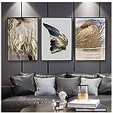 Jwqing 3 stücke Moderne Wohnzimmer Dekoration Gold Feder