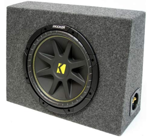 "ASC Package Single 10"" Kicker Sub Box Regular Cab Truck Subwoofer Enclosure C10 Comp 300 Watts Peak"