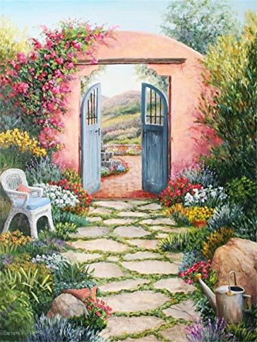 5d completo diamante cuadrado paisaje flor diamante bordado puerta rhinestone mosaico diamante pintura A5 60x80 cm