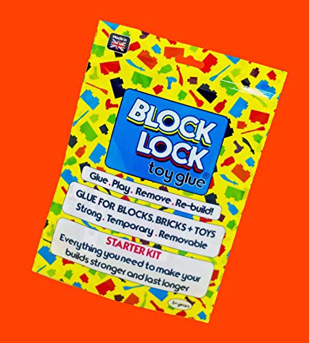 Block Lock® Spielzeug Klebstoff Starter Kit - für LEGO®, Mega Bloks, Kinex und anderen Toys, Bausteine + Blocks 30 ml