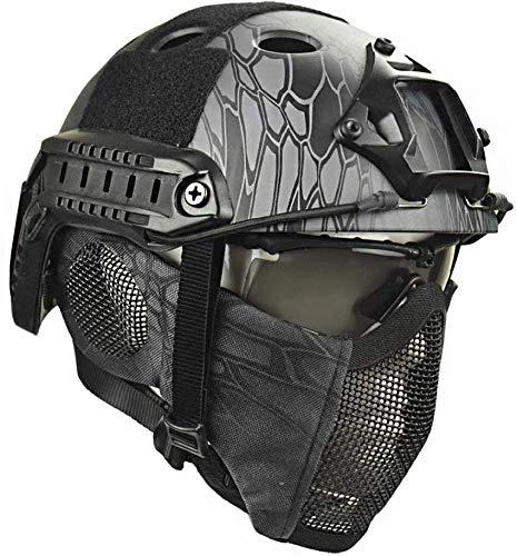 Taktische Helme mit Schutzbrille Helm aus Stahlgittermaske Airsoft Paintball-Schutzhelme CS Game Set-Schutzausrüstung