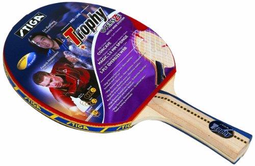 Stiga Trophy - Pala de Ping Pong, Color Rojo, Talla concave