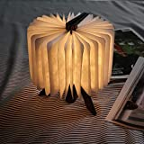 BIOBEY Paper Folding Lamp Wood & Paper Lamp with 360 Degree As Desire Gifts Bedroom, Home & Room Decor Night Lamp LED Table Light for Bedroom Dorm Study - Paper Folding Lamp