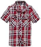 Brandit Roadstar - Camisa Casual - con Botones - Manga Corta - para Hombre - Rojo - M
