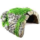 Soaying Cuevas de Reptiles, Escondites de Peces en el Santuario, Cuevas Naturales en Reposo con Musgo Artificial, Adecuado para Cangrejos de RíO