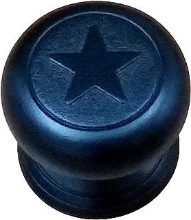 Western Style Embossed Star Knob, Black (Set of 10)