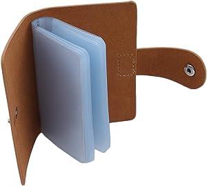 Jixing Kartenhalter Tasche Leder Einfarbig Ordner Münze Geld Kreditkarte Tasche für Frauen Männer Business Use