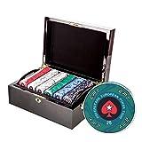 ANBO Poker Chips Set, 500PCS Ceramics Casino Poker Chips with Carrying Case 10 Grams of EPT Ceramic Gambling Chips for Texas Holdem Blackjack Gambling