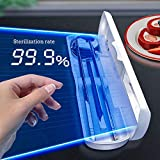 UV Multifunción Caja De Desinfección Portátil Set de Cubiertos Contenedores de Almacenamiento Esterilizador Ultravioleta PortáTil con Cable USB Luz Ultravioleta