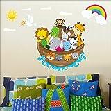 Arche Noah Wandtattoo Kinderzimmer Wandtattoo Aufkleber Kinder, mehrfarbige Kunst 208