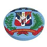 XJ-JX Escudo de Armas República Dominicana - Funda redonda para taburete de bar, 33 cm, antideslizante, suave, transpirable, de terciopelo para restaurante, cafetería, hotel, bar