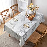 LOHOMEVE Vinyl Tablecloth Rectangle, Plastic Table Cloth, 100% Waterproof Oil Spill Proof Stain...