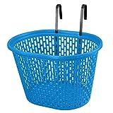 Hyx Cestino for Bicicletta Giovanile con Manico Anteriore, Impermeabile, Cestino, Cestino for Bambini, Cestino for Appendere - 4 Colori Opzionale (Color : Blue)