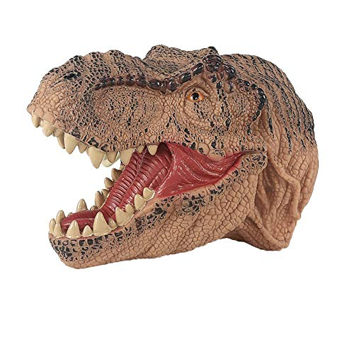 Juguetes de dinosaurio para Halloween Tyrannosaurus Rex y Raptor marioneta de mano modelo dinosaurio marioneta de mano