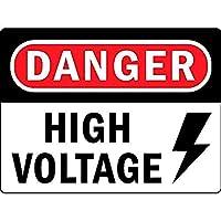 危険高電圧壁錫サイン金属ポスターレトロプラーク警告サインヴィンテージ鉄絵画の装飾オフィスの寝室のリビングルームクラブのための面白い吊り工芸品
