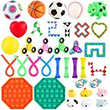 FiGoal 36 PCS Stress Relief Set Sensory Fidget Toys Set Hand Toys for Adults Kids ADHD ADD Anxiety Autism, Birthday Party...