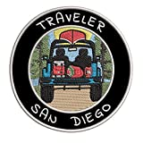 Traveler! San Diego Embroidered Premium Patch DIY Iron-on or Sew-on Decorative Badge Emblem Vacation Souvenir Travel Gear Clothes Appliques Wildlife Explore Nature