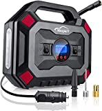 Switory Tyre Inflator 12V 120W 150PSI Digital Air Compressors Pump Auto Car Tire Pump with Pressure Gauge LED Light, Long Cable and Auto Shut Off Compatible with Car,Bicycle and Other Inflatables