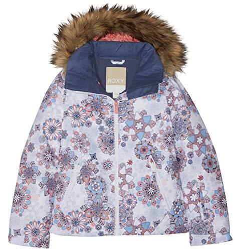 Roxy Mädchen Snow Jacket Jet Ski, bright white-snowflakes, 16/XXL, ERGTJ03053