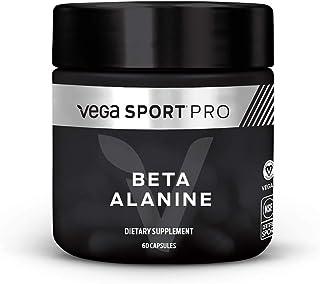 Vega Sport Pro Supplements, Beta Alanine (60 Capsules) - NSF Certified, Certified Vegan, Gluten Free Pills