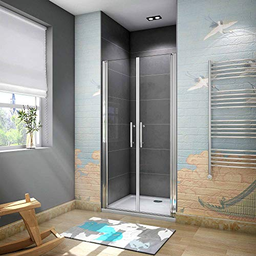 Mamparas de ducha pantalla ba/ño 6mm Easyclean vidrio 80x195cm