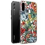 Funda Honor 8X, ZhuoFan Cárcasa Silicona 3D Transparente con Dibujos Diseño Suave Gel TPU [Antigolpes] de Protector Bumper Case Cover Fundas para Movil Huawei Honor 8X - 6,5 Pulgadas (Flor Colorida)