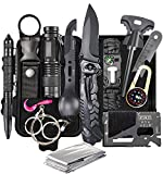 ASSABER Survival Kit,13 in 1 Survival Gear and Equipment, for Dad, First Aid Kit with Survival Bracelets Emergency Blanket Tactical Flashlight for Camping Adventures