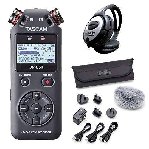 Tascam DR-05X Audio-Recorder + AK-DR11GMKIII Zubehör Set + keepdrum Kopfhörer
