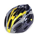 Casco Casco de Ciclismo Bicicleta de montaña 55-62cm Casco de Fibra de Carbono Casco Casco Azul Tamaño Equipo de protección para la Cabeza (Color : Yellow, Size : One Size)