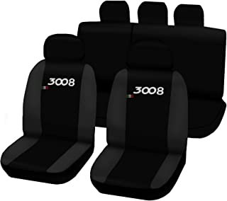 Lupex Shop 3008_N. Gs Seat Covers Two Tone Dark Grey