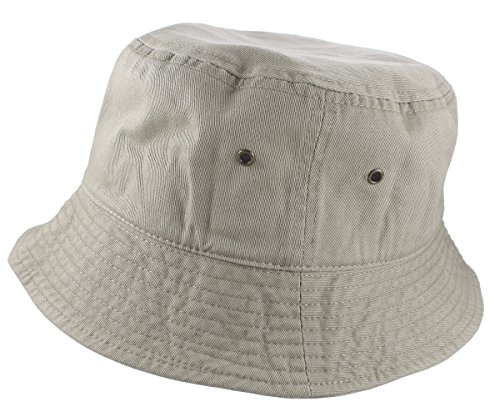 Gelante 100% Cotton Packable Fishing Hunting Summer Travel Bucket Cap Hat 1900-Putty-L/XL