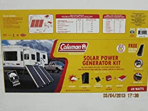 Coleman CL-3900 60Watts Solar Power Generator Kit Model # 51021