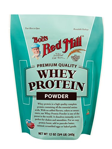 Bob's Red Mill Whey Protein Powder 12ounce Package May Vary, Red, unflavored, 12 Ounce