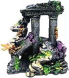 JILYEMOY - Decoración de tanque de peces de resina de simulación de columna romana Acuario Decoraciones de Acuario Tanque de Peces Roca Ruinas Decoración de Plantas Decoración de Acuario Adornos