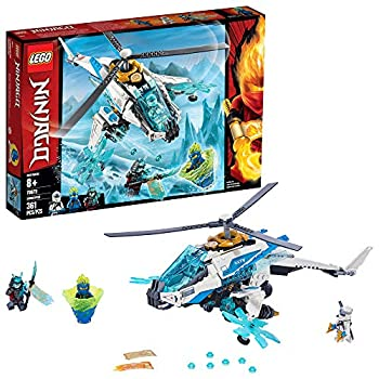 LEGO NINJAGO ShuriCopter 70673 Kids Toy Helicopter Building Set with Ninja Minifigures and Toy Ninja Weapons  361 Pieces