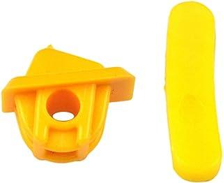 figatia Almofada removedora de cabeça de pássaro de plástico com proteção de roda amarela de 27 mm para troca de pneu