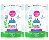 DAPPLE Baby Dishwasher Pacs, Fragrance Free Dishwasher Pods, Plant Based, Hypoallergenic, 25 Count (Pack of 2)