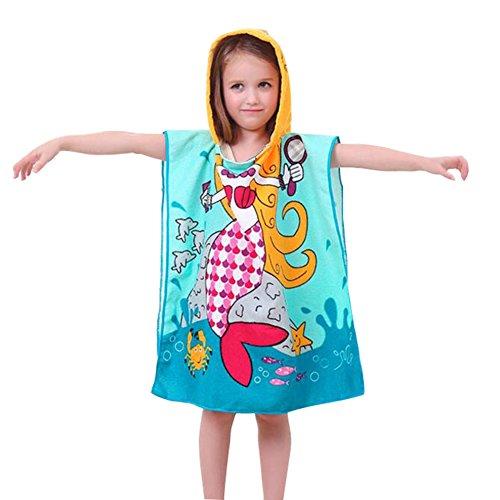 Kinder Badeponcho 100/% Baumwolle mit Personalisiert Karikatur Design f/ür Junge M/ädchen 0-6 Jahre Gilr