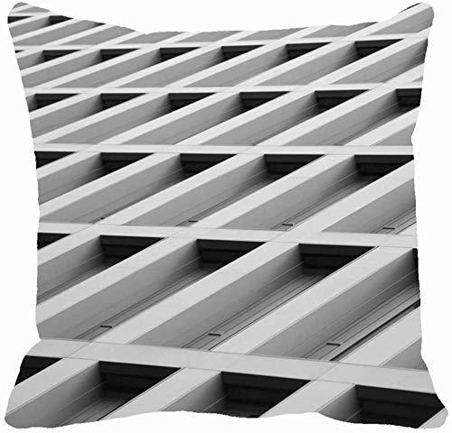 Architettura astratta Foto scattata con edifici estremamente bassi Punti di riferimento Fodere per cuscini Federe Divano Decorazioni per la casa 18X18In 326554-QAZ-2018