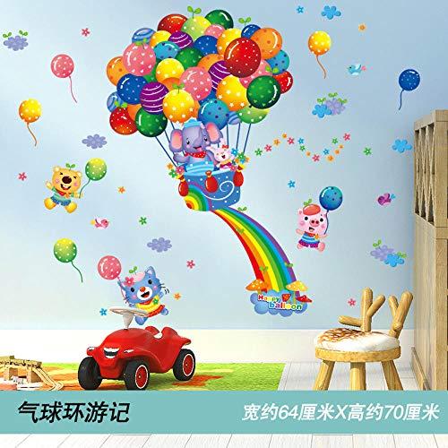 Cartoon Wandaufkleber Tapeten Kindergarten Baby niedliche Aufkleber frühe Pflege Klasse Beratung Klasse Wanddekoration Umgebung Layout-Ballon Tour (New Imposition) _Extra groß