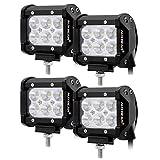 Auxbeam 4 Pcs 4' LED Light Bar 18W LED Pods...