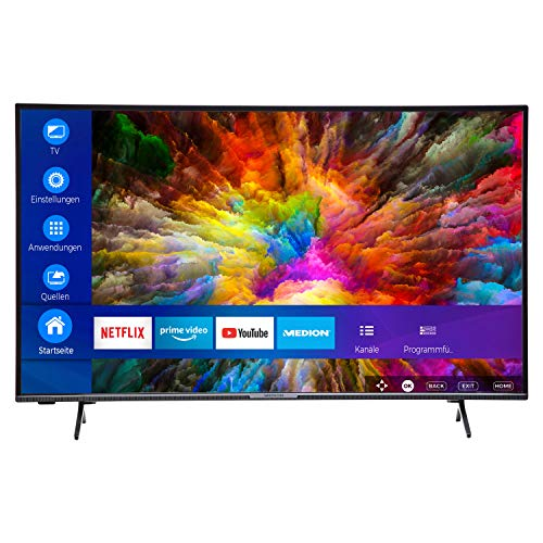 MEDION X14912 123,2 cm (49 Zoll) UHD Fernseher (Smart-TV, 4K Ultra HD, HDR 10, Micro Dimming, Netflix, Prime Video, WLAN, PVR, Bluetooth)