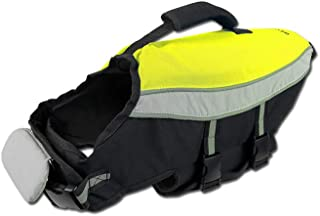 alcott Water Adventure Life Jacket with Reflective Accents & Support Handle, Medium, Neon Yellow