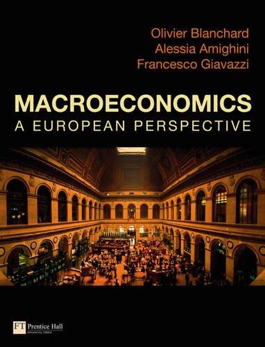Giavazzi & Blanchard: Macroeconomics a European perspective