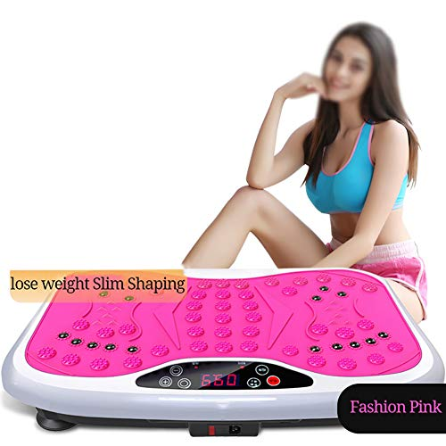 Smart trilplaat, high-performance Exercise Machine, Intelligent Mute acupressuurmassage trilplaat, Body Shaping Body geschikt voor familie,Pink