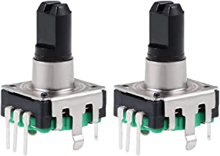 uxcell 360 Degree Rotary Encoder Code Switch Digital Potentiometer EC12 7 Pins 14.3mm D-Shaft Green 2pcs
