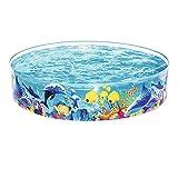 24 4 CM Niños para bebés Piscina Redonda CLORURO DE POLIVINILO Familia Grande Piscina al Aire Libre Jardín de Verano Niños Inflatable Pools Pools (Color : A)