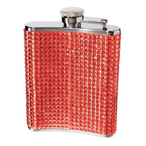Oggi 9248.2glitter and Glitz fiaschetta in acciaio INOX, red by