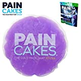 PAINCAKES The Cold Pack That Sticks & Stays in Place- Reusable Cold Therapy Ice Pack Conforms to Body, 1 Large (Purple- 5')